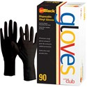 Product Club Jet Black Disposable Vinyl Gloves 90 ct. Small